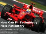 how can f1 technology help patient