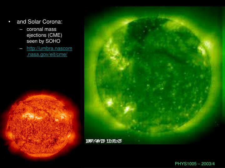 and Solar Corona: