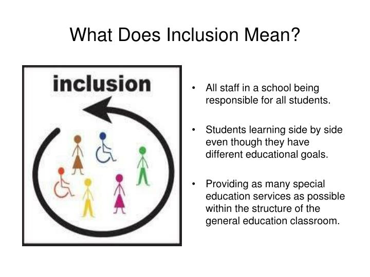 What Does Inclusion Mean?