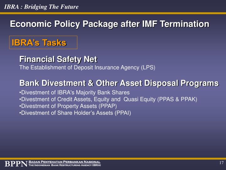 Economic Policy Package after IMF Termination