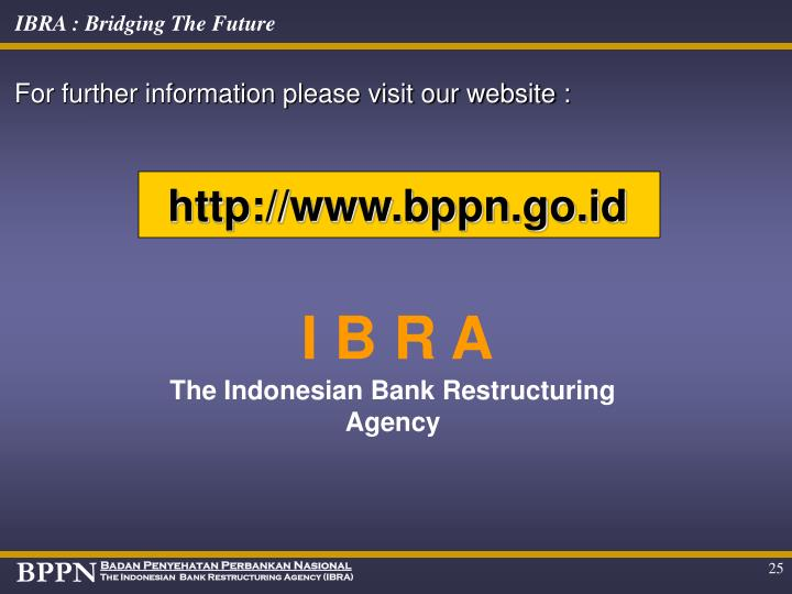 For further information please visit our website :