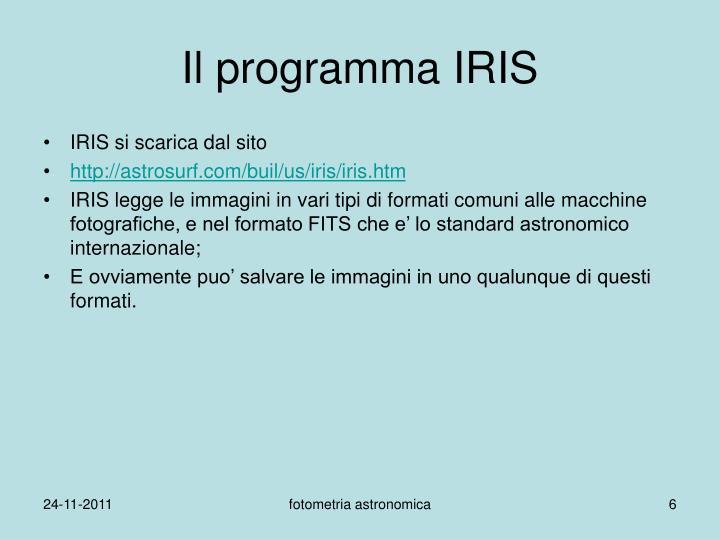 Il programma IRIS