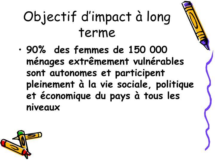 Objectif d'impact à long terme