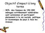 objectif d impact long terme