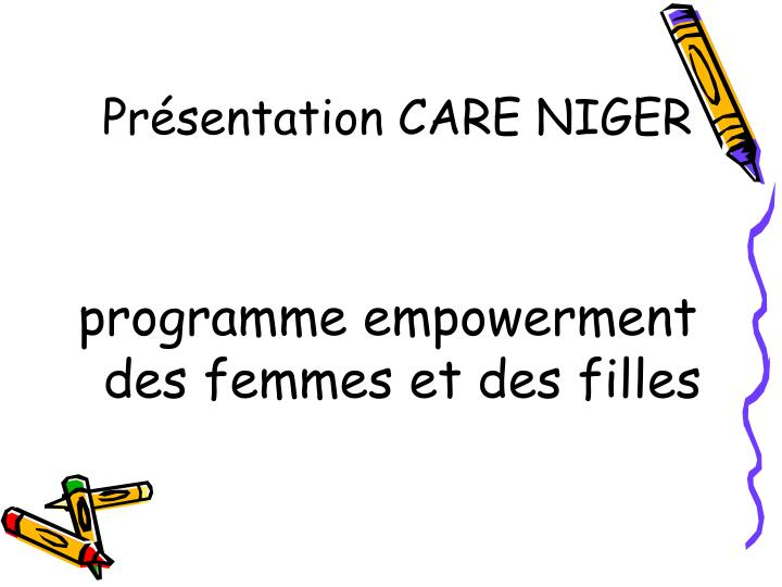 Pr sentation care niger