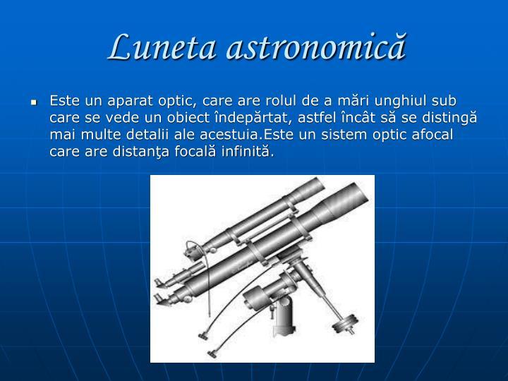 Luneta astronomică