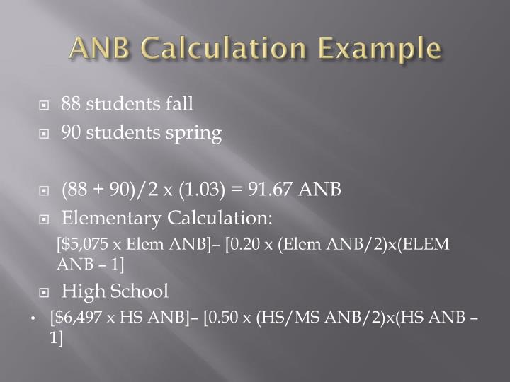 ANB Calculation Example