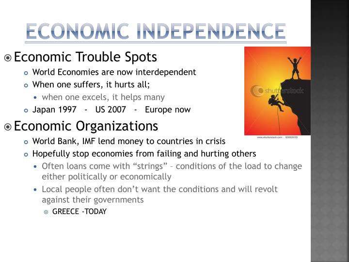 Economic independence