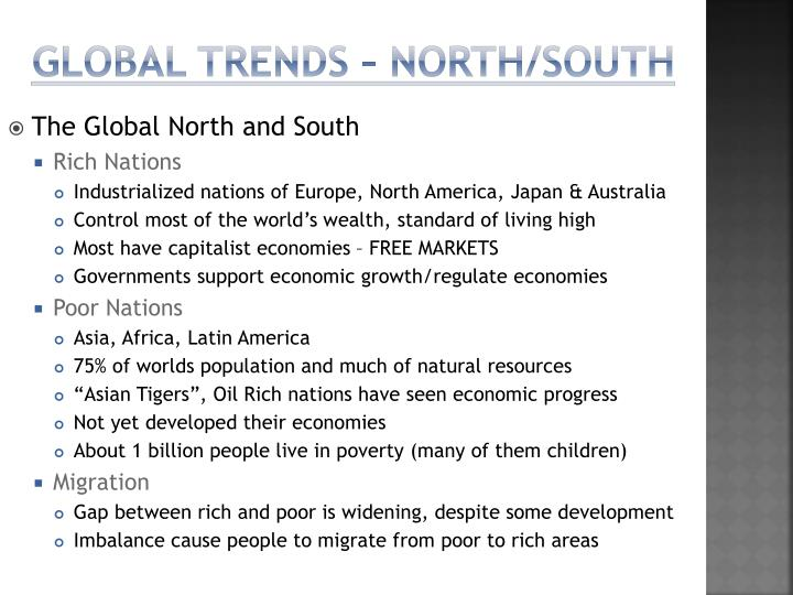 Global Trends – North/South