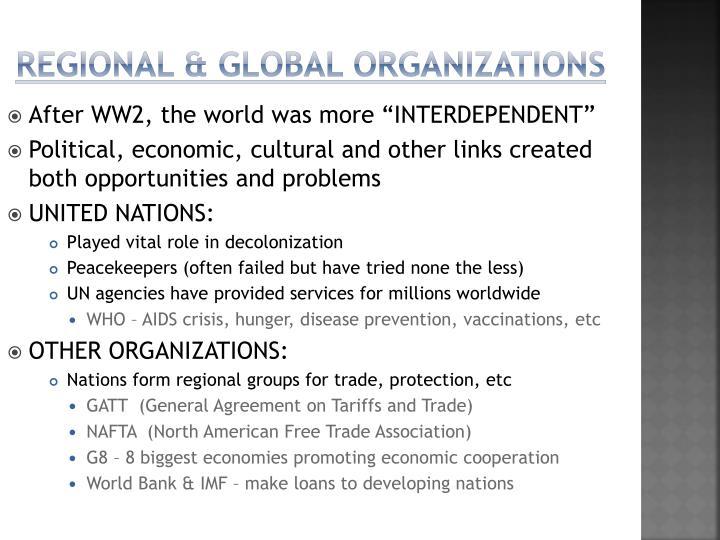 Regional & Global Organizations