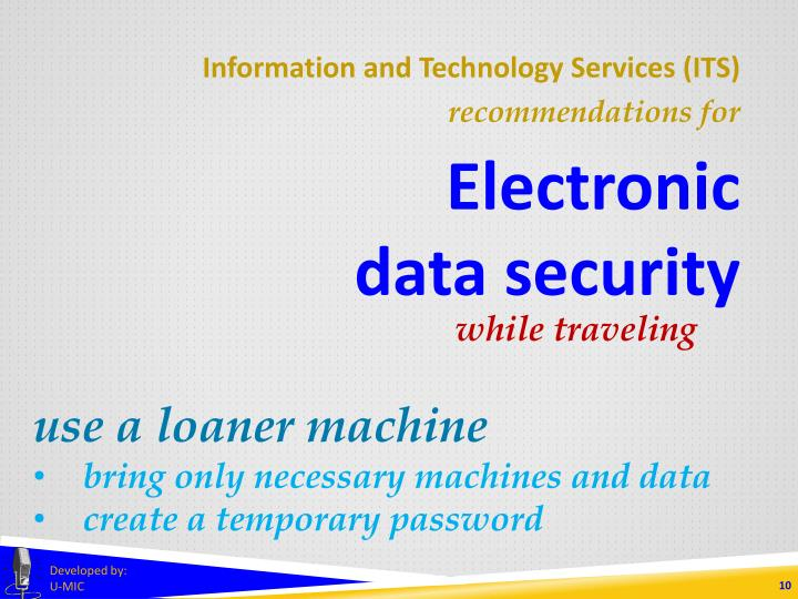 Information and Technology Services (ITS)