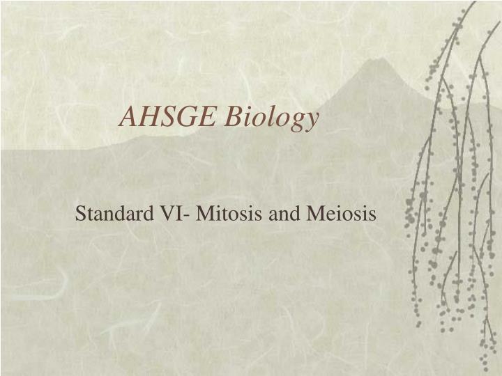 AHSGE Biology