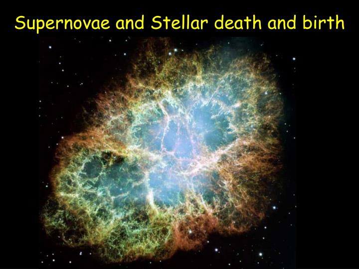 Supernovae and Stellar death and birth