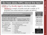 so how does nrc blend the two3