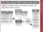 so how does nrc blend the two4