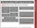 so how does nrc blend the two5