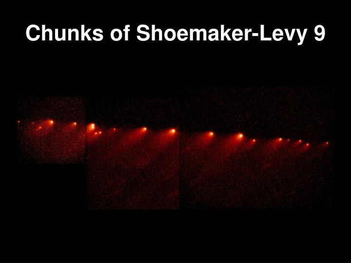 Chunks of Shoemaker-Levy 9