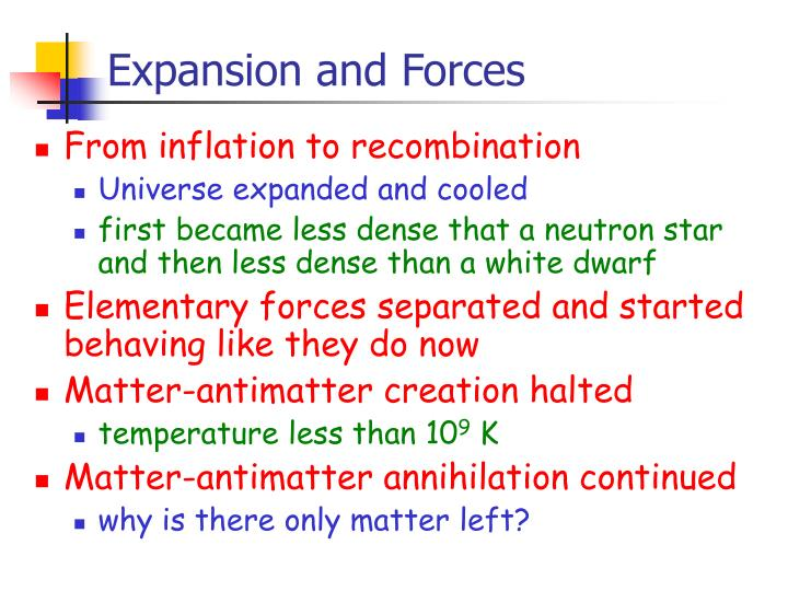 Expansion and Forces