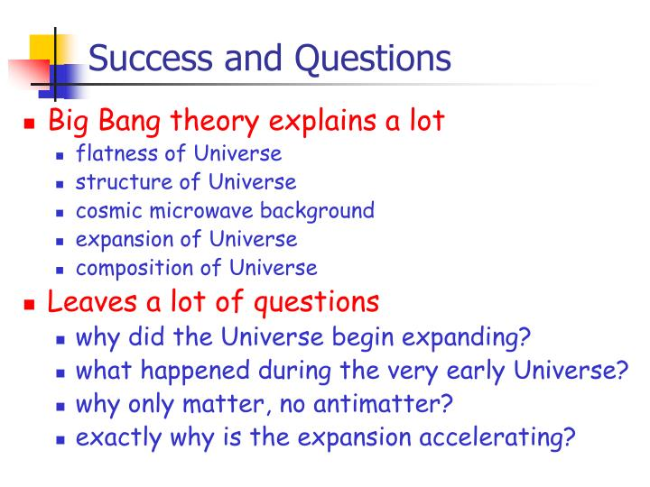 Success and Questions