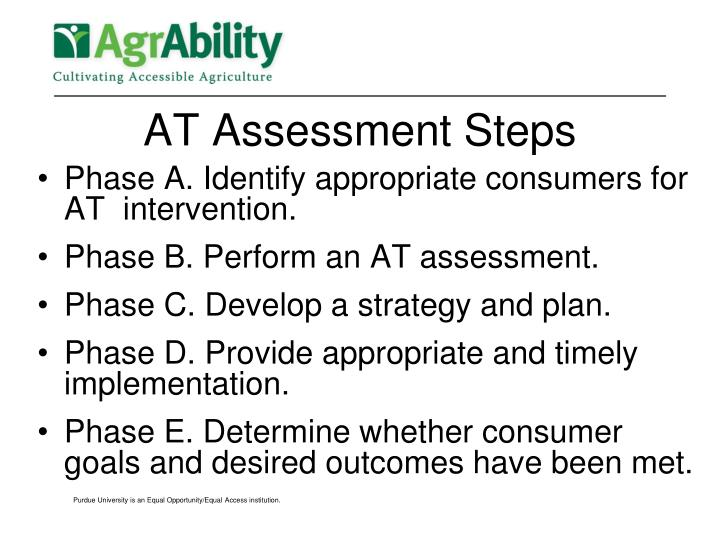 AT Assessment Steps