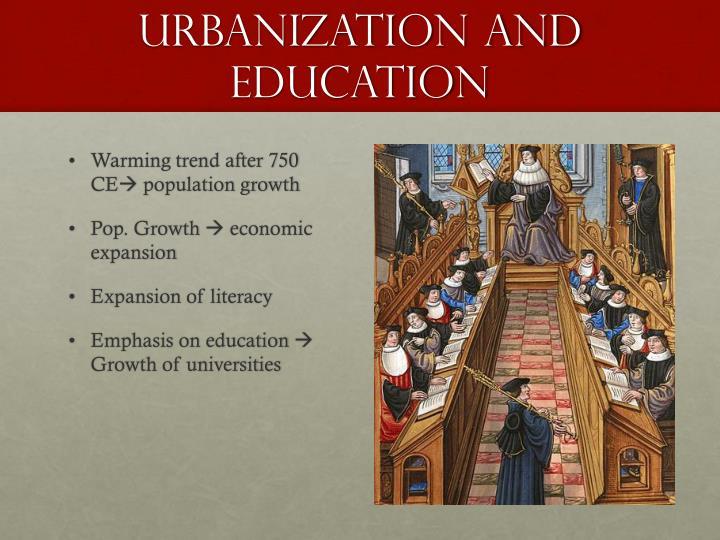 Urbanization and