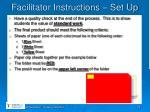 facilitator instructions set up1
