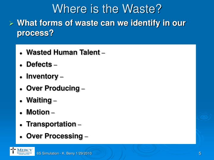 Where is the Waste?