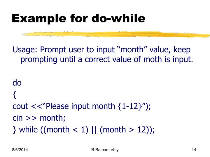 Example for do-while