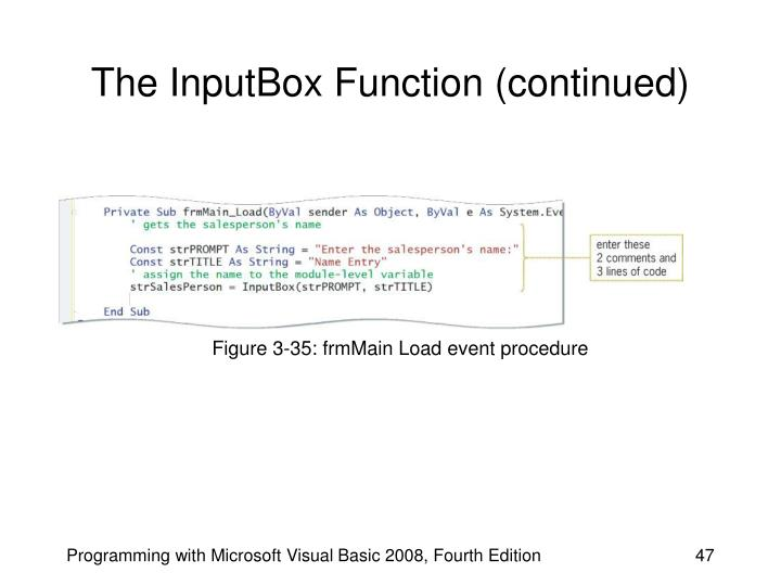 The InputBox Function (continued)