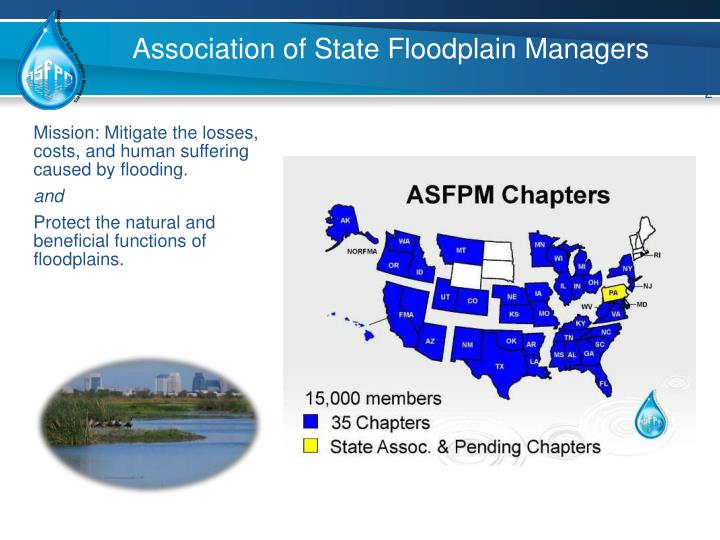 Association of state floodplain managers