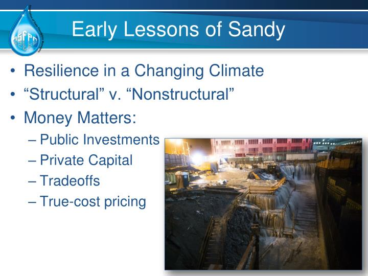 Early Lessons of Sandy