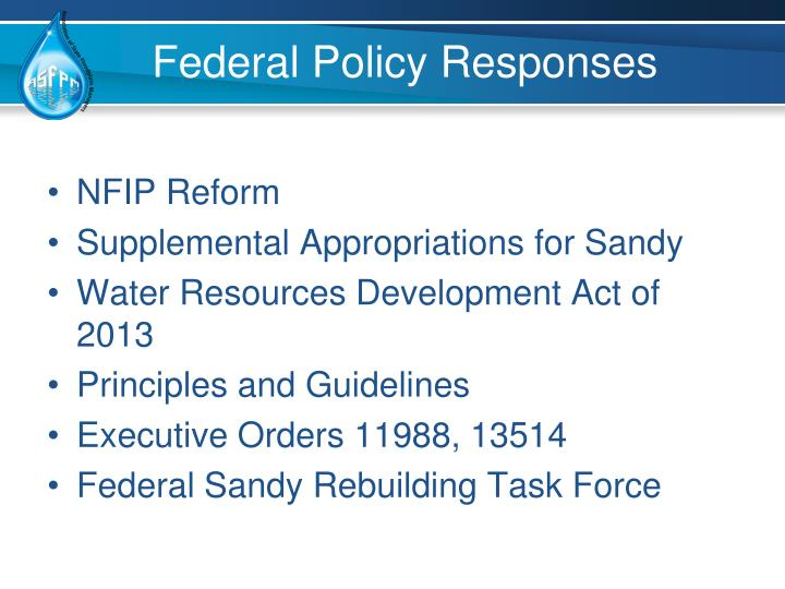 Federal Policy Responses