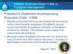 sidebar executive order 11988 on floodplain management
