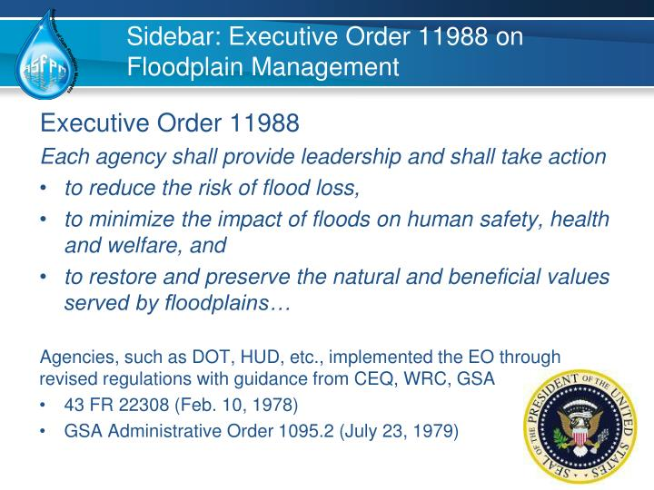 Sidebar: Executive Order 11988 on Floodplain Management