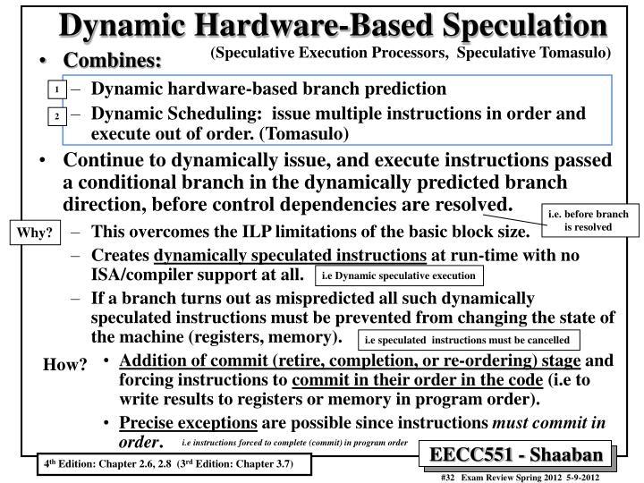 Dynamic Hardware-Based Speculation