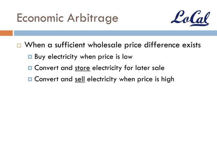 Economic Arbitrage