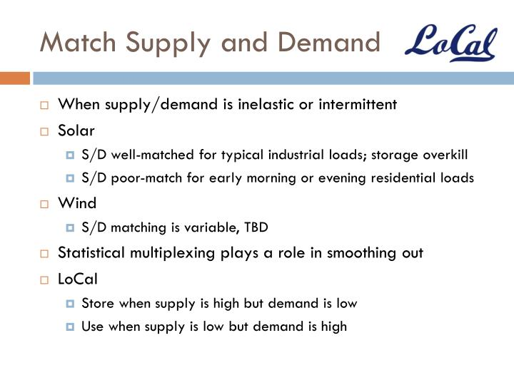 Match Supply and Demand