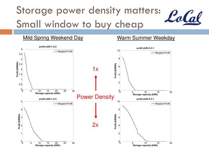 Storage power density matters: