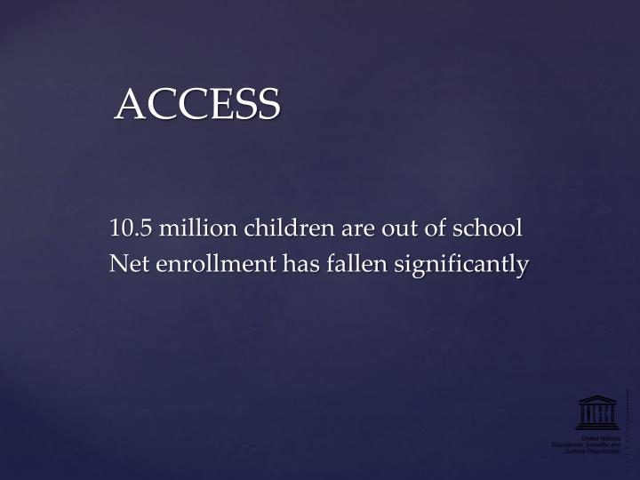 10.5 million children are out of school