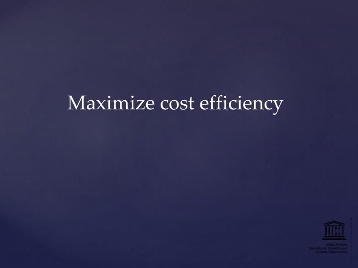 Maximize cost