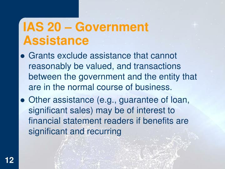 IAS 20 – Government Assistance