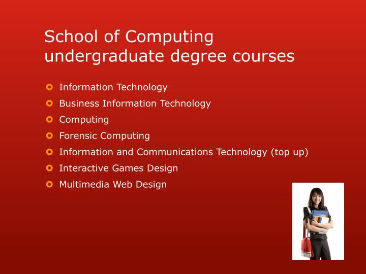 School of Computing undergraduate degree courses