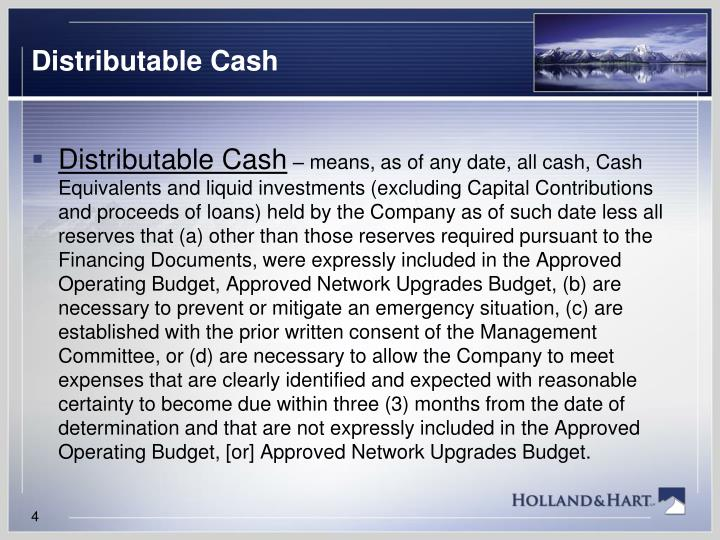 Distributable Cash
