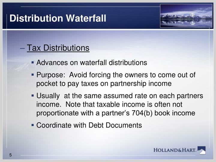 Distribution Waterfall