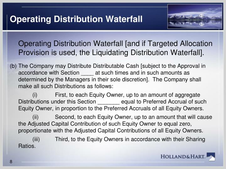 Operating Distribution Waterfall