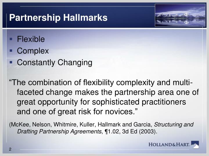 Partnership Hallmarks