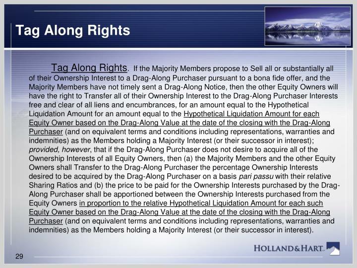 Tag Along Rights