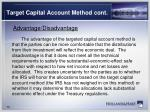 target capital account method cont1