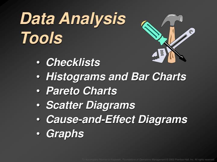 Data Analysis Tools