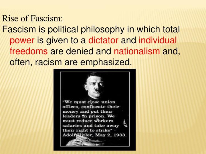 Rise of Fascism: